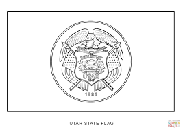 50 state flags of the usa 1 in utah flag coloring page eson me