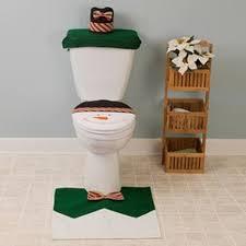 1 set snowman toilet seat cover and rug bathroom set christmas