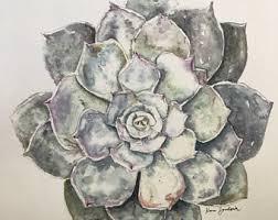 succulent art works etsy