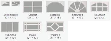 garage door window designs