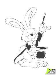 coloriage lapin magique dans la catégorie paques yeb