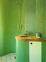 Green Tile Bathroom Ideas Bathroom Green Mosaic Ceramic Wall Shower Screen Decor
