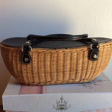 85 off kate spade handbags kate spade wicker bag from beatriz u0027s