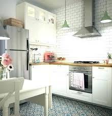 photo cuisine avec carrelage metro carrelage metro cuisine cuisine ikea au style r tro avec carrelage