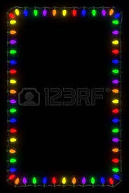 lights frame on black background stock photo picture