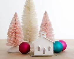 putz house ornament diy kit decoration cottage
