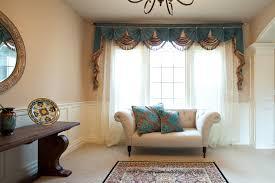 picture of blue salon paris salon style swag valance curtains