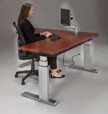 Adjustable Height Desk by Newheights Corner Height Adjustable Standing Desk