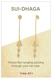 sui dhaga earrings design gold earrings festival offers malabar gold diamonds