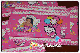 Hello Kitty Invitation Card Maker Free Welcome To Partyfactory Cebu Angel U0027s 7th Birthday Bash