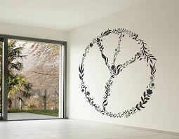 large nature peace sign wall sticker contemporary wall stickers