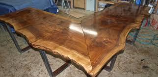 Wood L Shaped Desk Buy A Custom Made Live Edge Walnut L Shaped Desk Made To Order