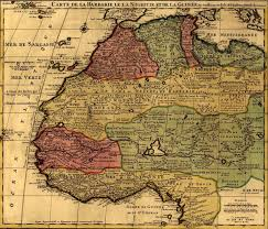 Map Of Western Africa by Map Of North And West Africa Circa 1742 Of French Origin North