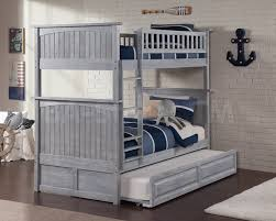 Bunk Beds With Trundle Sale 1268 40 Nantucket Twin Twin Bunk Bed Driftwood Grey
