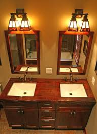 Craftsman Bathroom Lighting Wonderful Craftsman Style Bathroom Lighting F44 On Stylish