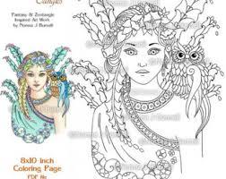 umbrella fairy coloring sheet fairy by fairytangleart