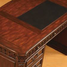 Office Executive Desk Furniture by Union Hill Double Pedestal Traditional Executive Desk Wood Office
