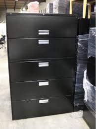 Lateral File Cabinet 5 Drawer Hon Black 5 Drawer Lateral File Cabinets Aoli Atlanta Office