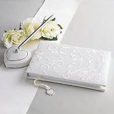 guest book and pen opal innocence guest book with pen lenox wedding collectibles