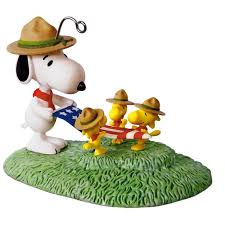peanuts snoopy flag folding ceremony ornament keepsake