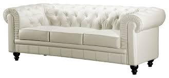 Leather Button Sofa Terrific White Leather Tufted Sofa White Button Tufted Leather