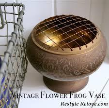 Frog Flower Vase Vintage Flower Frog Vase