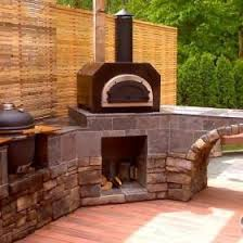 Chiminea With Pizza Oven Countertop Wood Burning Pizza Ovens Bbq Guys