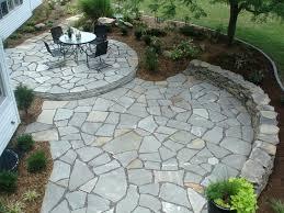 Flagstone Patio With Pergola Patio Ideas Stone Patio With Firepit And Pergola Stone Patio