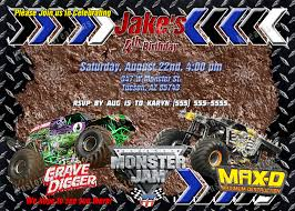 monster truck show tucson grave digger monster jam invitation for by rainbowfishcreations