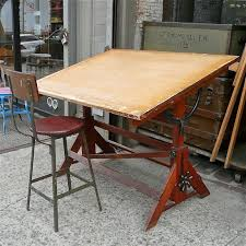 Wooden Drafting Table Vintage Drafting Table Cityfoundry