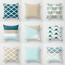 light blue accent pillows throw pillow covers accent pillow cover teal tan white light blue