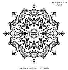 zentangle stylized elegant indian mandala stock vector