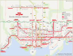 Ttc Subway Map excellent ttc streetcar map with all stops showing potential new