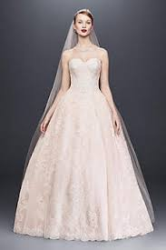 pink lace wedding dress pink wedding dresses gowns david s bridal