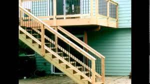 deck stair railing deck stair handrail outdoor design youtube