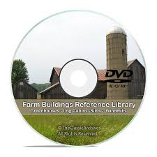 farm buildings barns cottage cabin poultry windmill silo