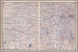 Kansas Map Road Map Of Kansas David Rumsey Historical Map Collection