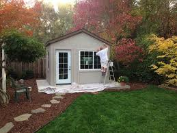 tuff shed down to business with this backyard office potting