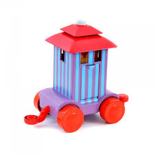 night garden upsy daisy pop stacking block carriage