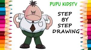 how to draw mr krupp captain underpants art for kids