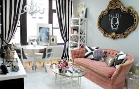 decorations awesome home interior design with pink leather sofa
