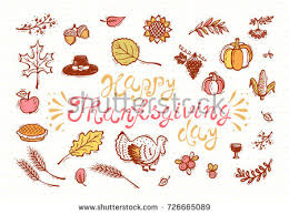 happy thanksgiving day greeting card autumn stock vector 726665089