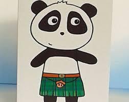 panda birthday card etsy