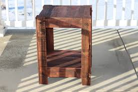 ana white end table made from pallets plans included diy