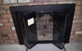 modern glass fireplace doors replacing fireplace doors fireplace ideas