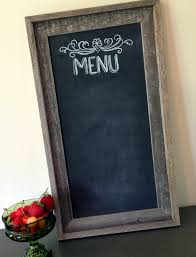 decorations simple rectangle brown old wood chalkboard frame