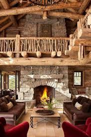 canapé cuir et bois rustique déco cagne chic salon 80 idées qui éveillent l imagination