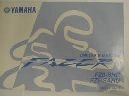 genuine 2007 yamaha fz6 fz6 shg fz6 sahg owners manual 4s8 28199