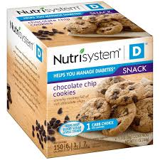 nutrisystem d chocolate chip cookie packs 4 count walmart com