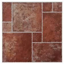 track terracotta ceramic tile 13in x 13in 911104037 floor